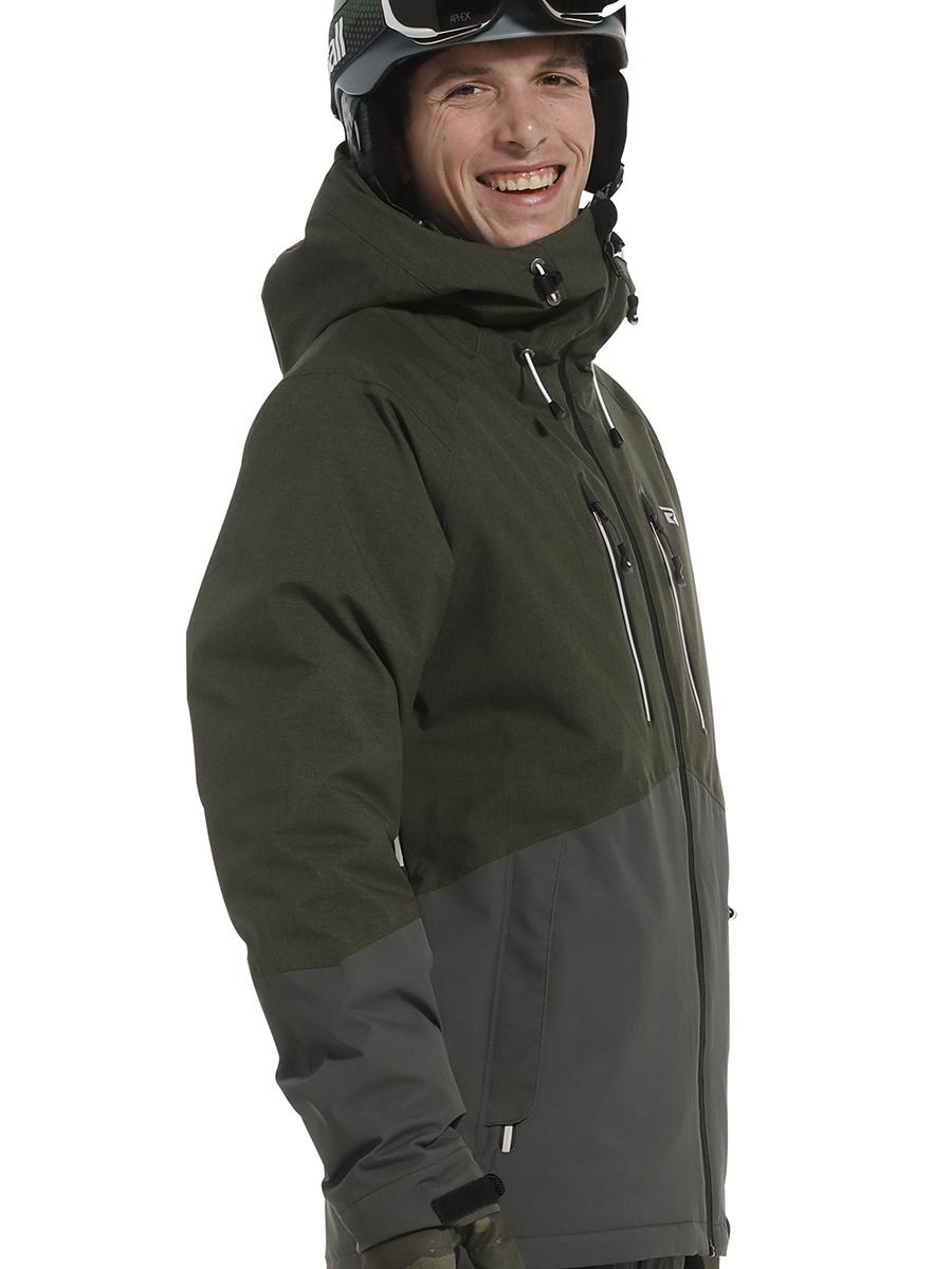 Rehall Rage-R da uomo colore: Nero Giacca da snowboard