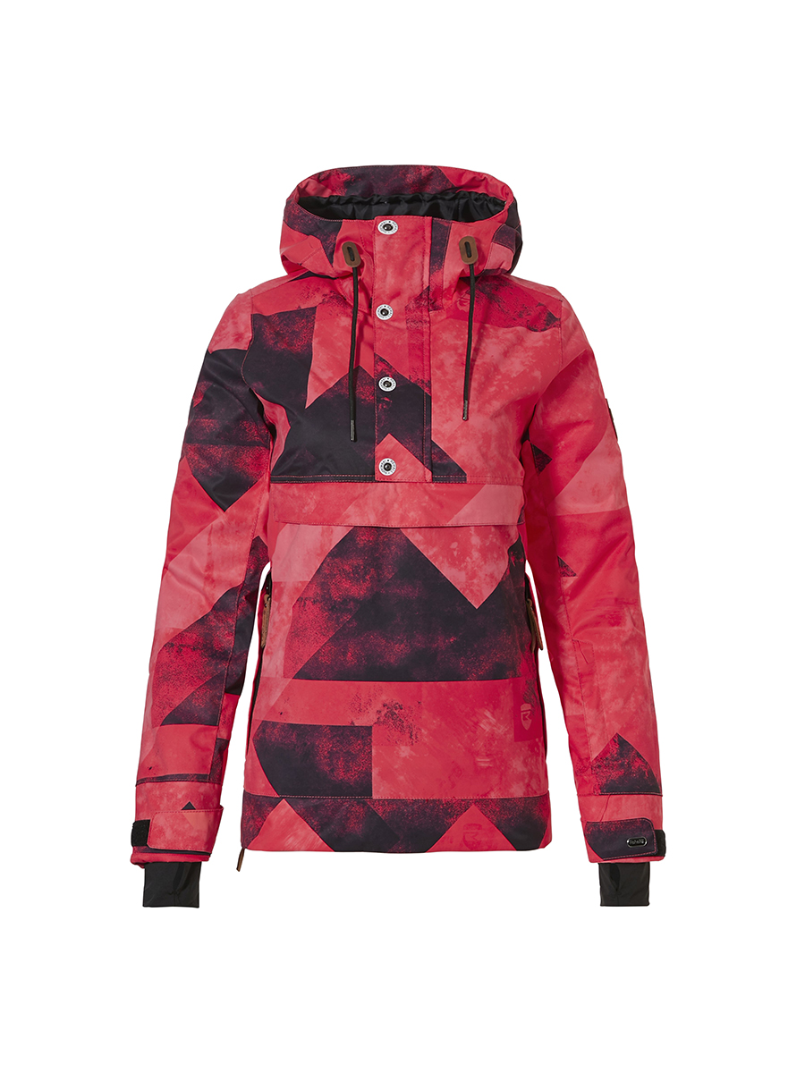 Rehall Roxx-R PWR Combi Jacket Womens Graphic Mountains Red Pink